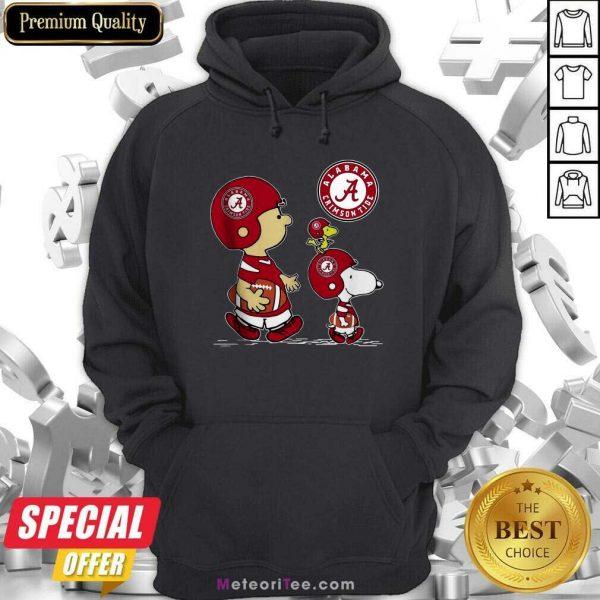 The Peanuts Charlie Brown And Snoopy Woodstock Alabama Crimson Tide Football Hoodie- Design By Meteoritee.com