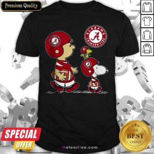The Peanuts Charlie Brown And Snoopy Woodstock Alabama Crimson Tide Football Shirt- Design By Meteoritee.com