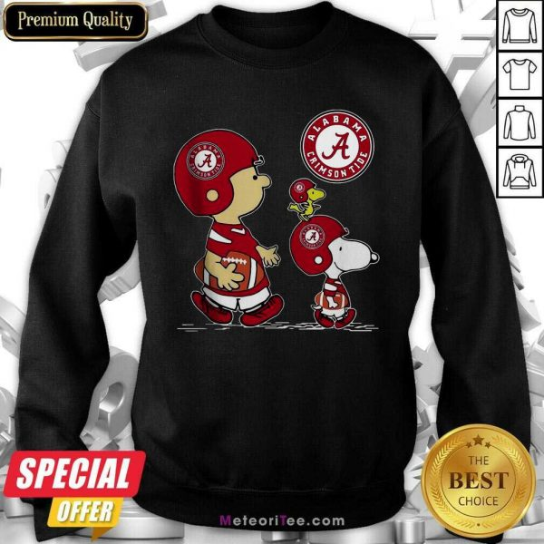 The Peanuts Charlie Brown And Snoopy Woodstock Alabama Crimson Tide Football Sweatshirt - Design By Meteoritee.com