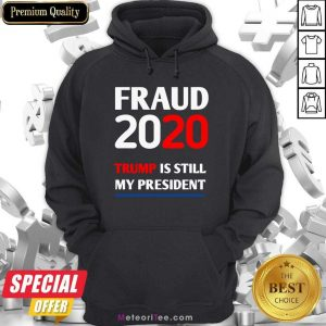 Trump Is Still My President Fraud 2020 Rigged Stop Steal Hoodie - Design By Meteoritee.com