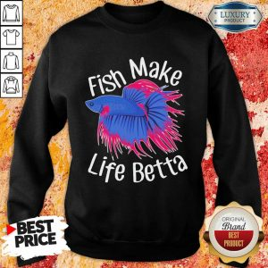 Bewildered Fish Make 4 Life Betta Sweatshirt - Design by Meteoritee.com
