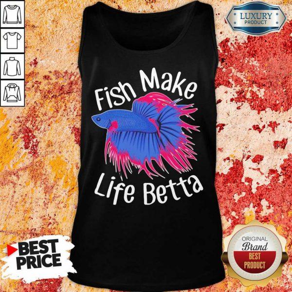 Bewildered Fish Make 4 Life Betta Tank Top - Design by Meteoritee.com