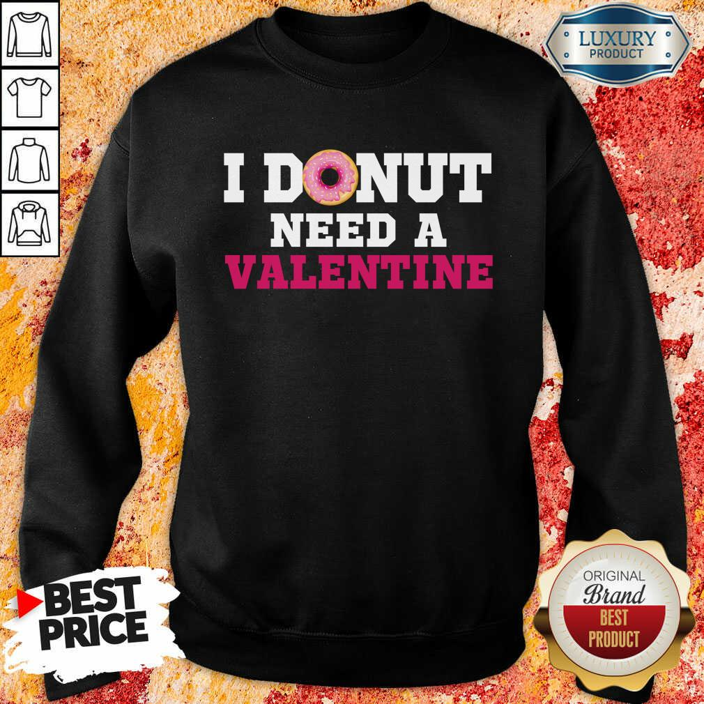 Bored I Donut Need 26 A Valentine Sweatshirt - Design by Meteoritee.com