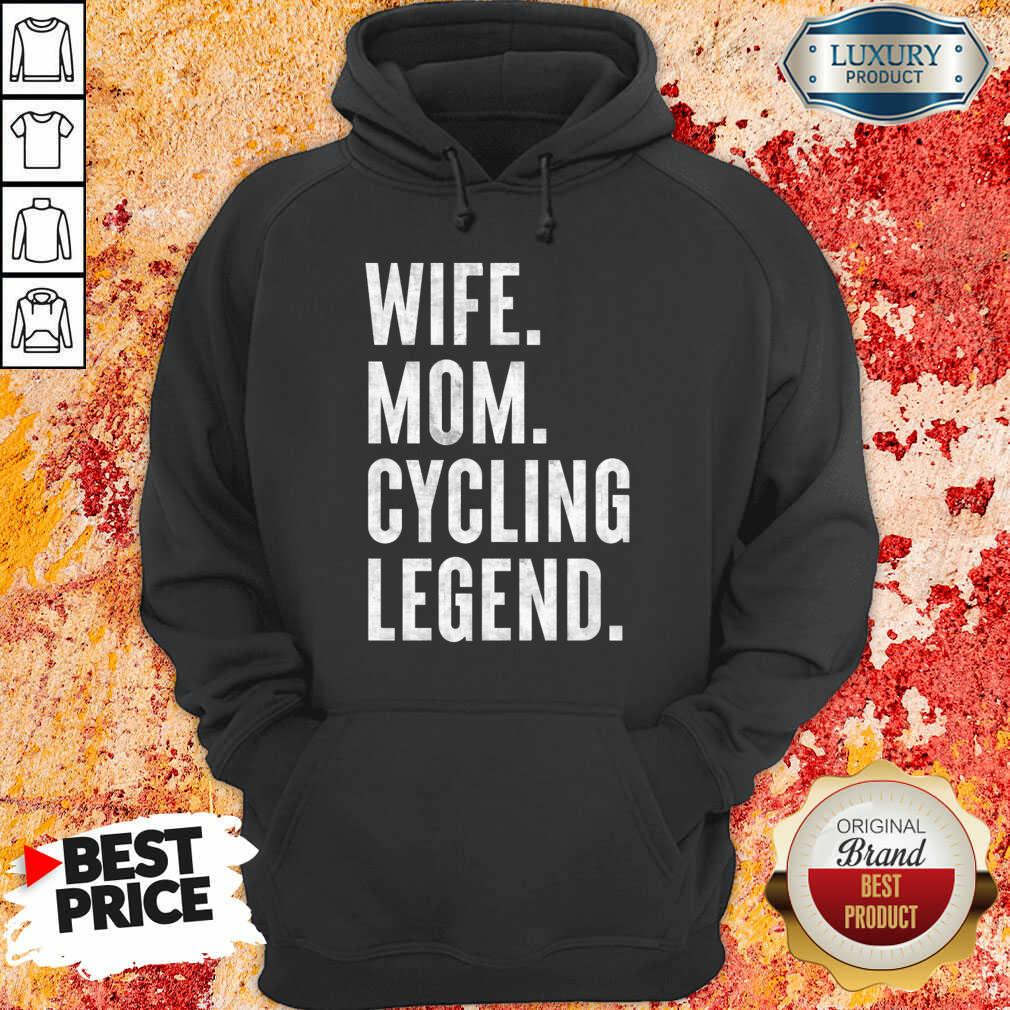 Delighted Wife Mom Cycling 1 Legend Hoodie - Design by Meteoritee.com