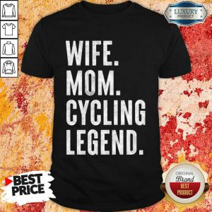 Delighted Wife Mom Cycling 1 Legend Shirt - Design by Meteoritee.com