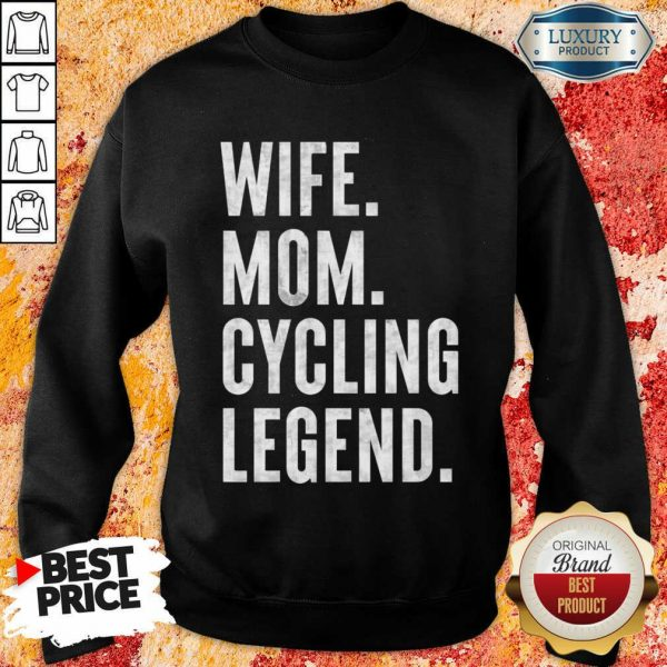 Delighted Wife Mom Cycling 1 Legend Sweatshirt - Design by Meteoritee.com