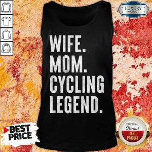 Delighted Wife Mom Cycling 1 Legend Tank Top - Design by Meteoritee.com
