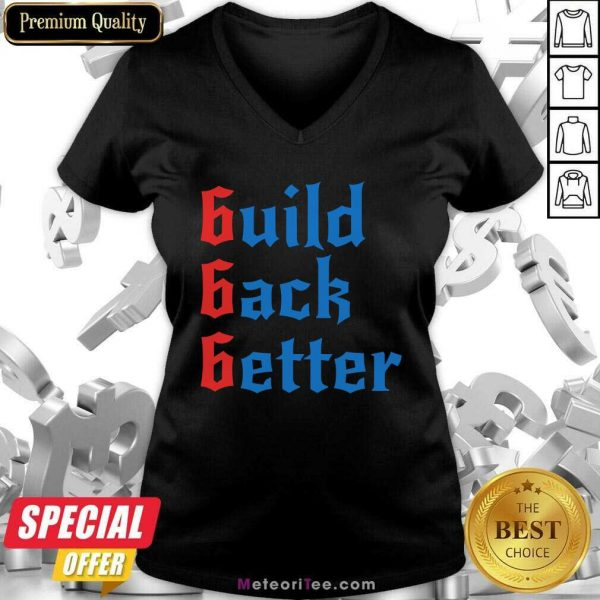 Build Back Better 666 Anti Globalist V-neck - Design By Meteoritee.com