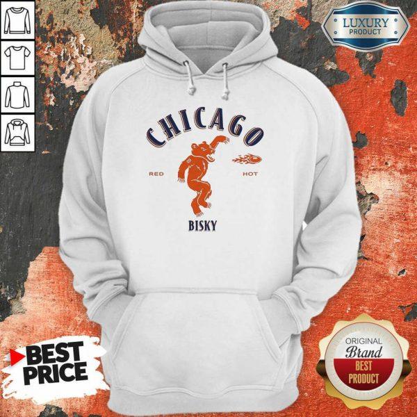 Upset Chicago Bears Red 2 Hot Bisky Hoodie - Design by Meteoritee.com