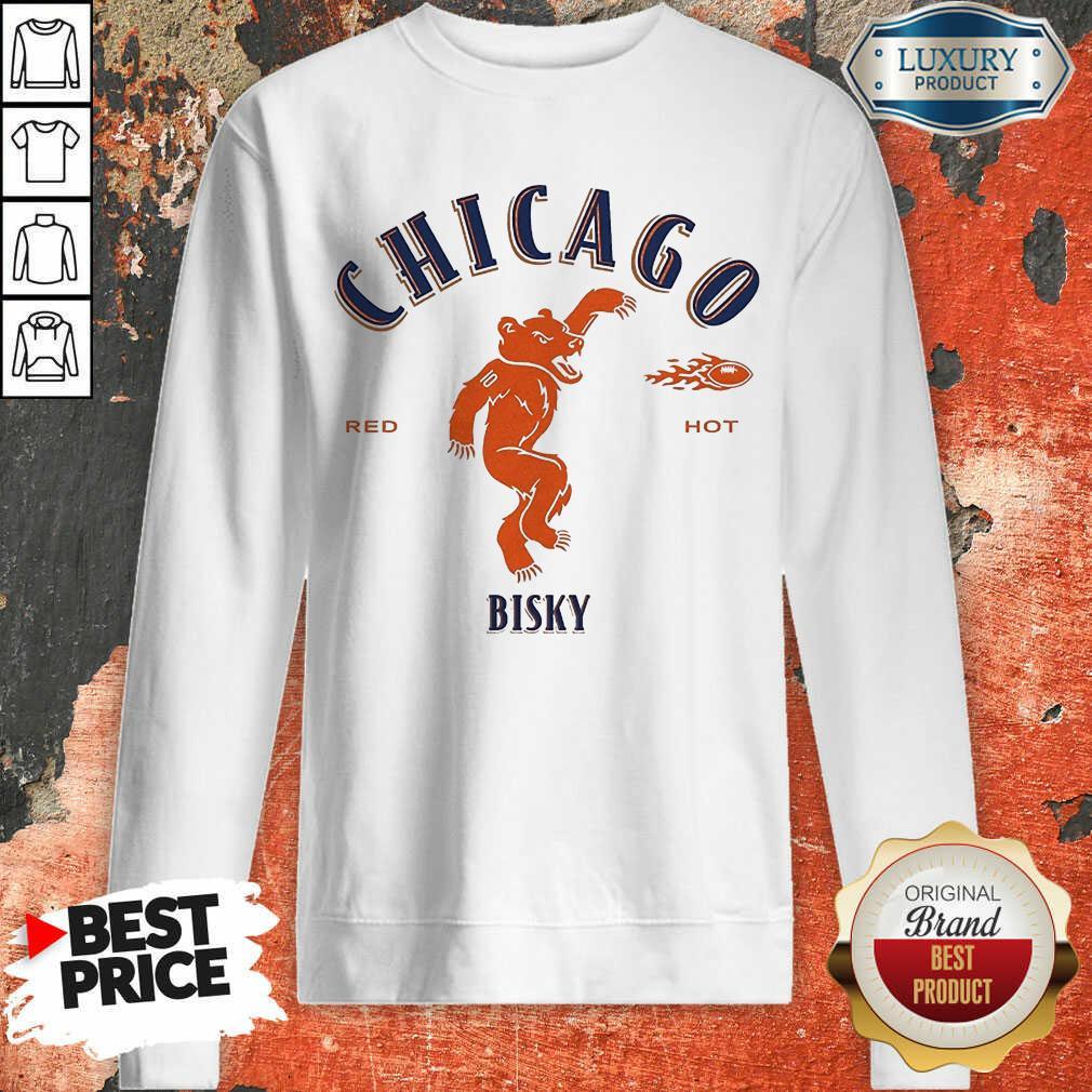 Upset Chicago Bears Red 2 Hot Bisky Sweatshirt - Design by Meteoritee.com