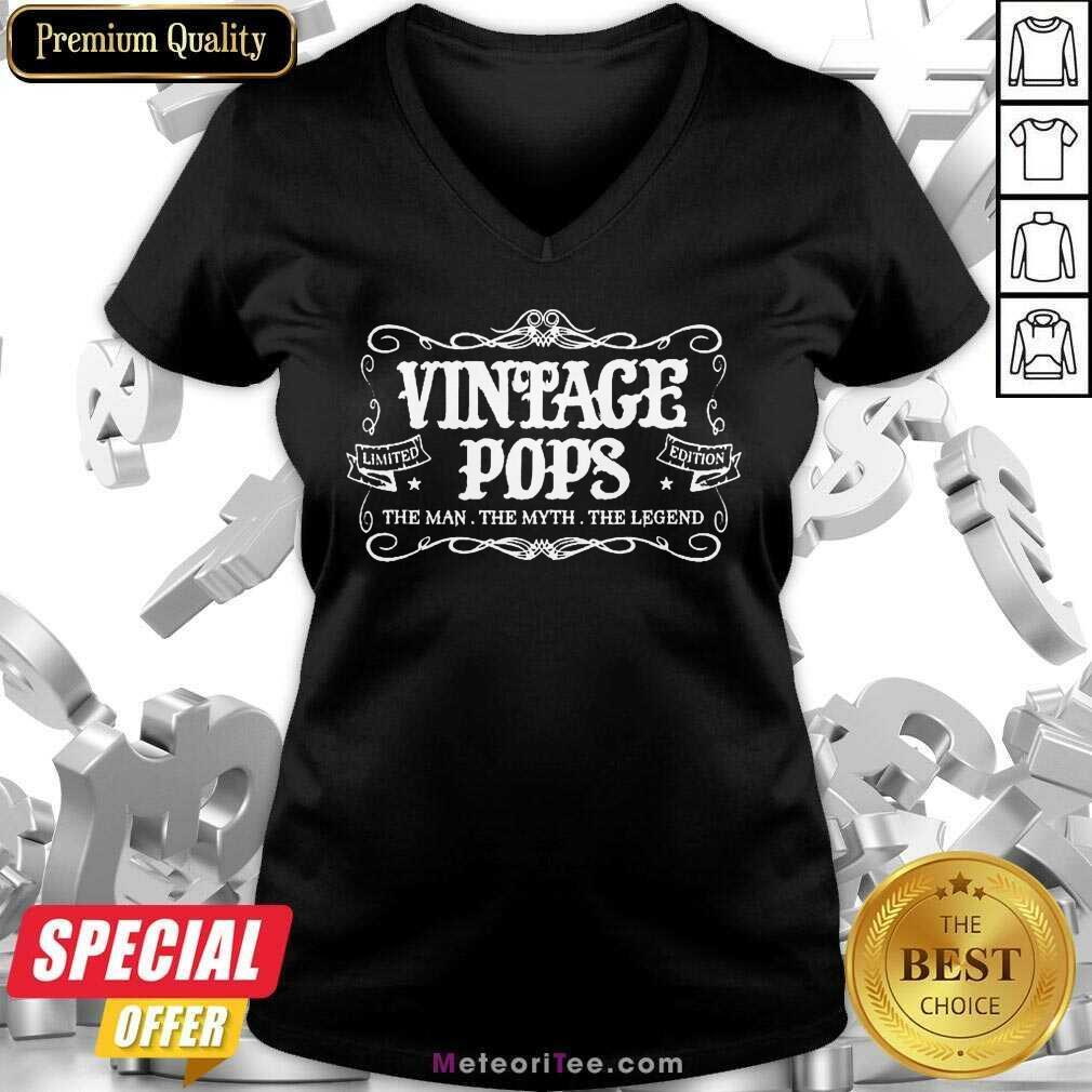 Vintage Pops 1 Limited Edition V-neck - Design By Meteoritee.com