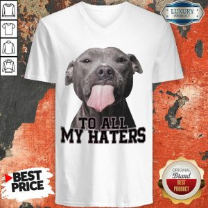 Funny Pitbull To All My Haters V-neck